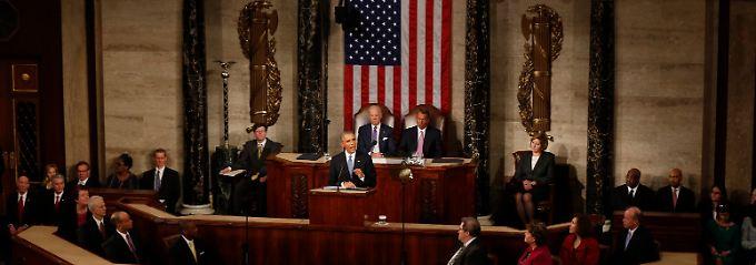 State of the Union: US-Präsident Barack Obama schlägt einen kämpferisch-optimistischen Tonfall an.