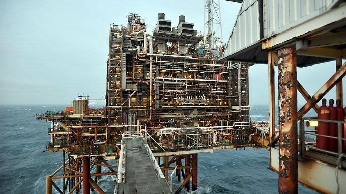 Die britische Ölplattform ETAP, rund 100 Seemeilen vor Aberdeen. Die britischen Erdölförderer schlagen Alarm angesichst des Ölpreises.
