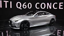 Mit einem Konzept wartet auch die Nissan-Premiumtochter Infiniti auf. Das Mittelklasse-Coupé Q60 wird vor allem gegen das kommende C-Klasse Coupé von Mercedes und den BMW 4er antreten.