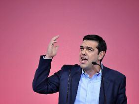 Im Wahlkampf-Endspurt: Syriza-Chef Alexis Tsipras.