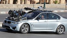 Dreharbeiten in Österreich und Marokko: Hier braust Tom Cruise im umgebauten Kamera-BMW durch Rabat (Archivbild).