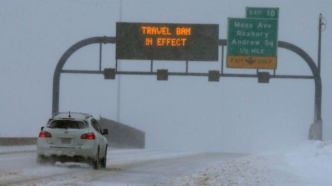 """Entwarnung für New York: Blizzard """"Juno"""" erwischt Boston mit voller Wucht"""