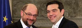 Angebot aus Brüssel: Schulz setzt sich für Tsipras ein