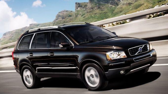 Besonders sicher sind der Auswertung zufolge große Allrad-SUV wie der Volvo XC90.