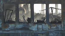 """Verbrannter Schiffslack, geschmolzene Ausstattung: Ein Blick in das ausgeglühte Innere der """"Norman Atlantic""""."""
