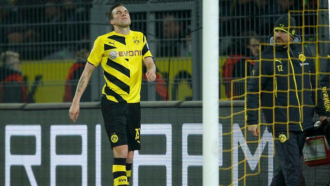 Großkreutz guckt, wie sich alle Dortmunder wohl gerade fühlen.
