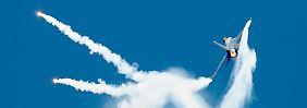 F16-Kampfjets, wie sie auch die jordanische Luftwaffe einsetzt, sind ein effektives Kriegsgerät - klar definierte Ziele am Boden vorausgesetzt.