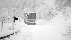 Chaos durch Schneemassen: Winter hat große Teile Europas fest im Griff