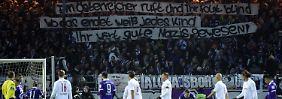 Fan-Eklat gegen RB Leipzig: Aue entschuldigt sich für Nazi-Banner