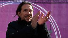 Pablo Iglesias' Partei Podemos steht in Spanien vor einer schwierigen Aufgabe.