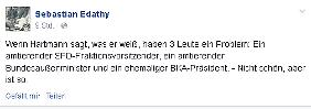 Die Edathy-Nachricht bei Facebook.