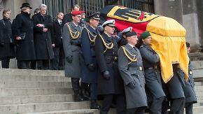 Trauergottesdienst und Staatsakt: Deutschland verneigt sich vor Richard von Weizsäcker