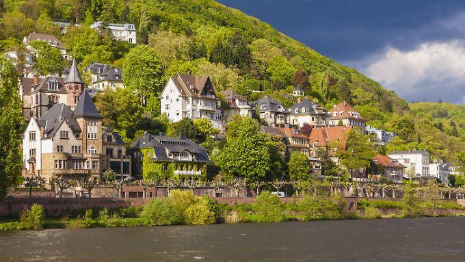 Villenviertel in Heidelberg.