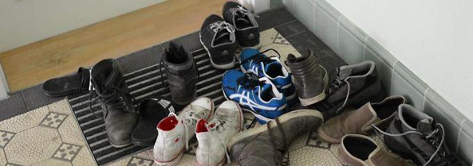 Wer kurzzeitig ein paar Schuhe oder einen Regenschirm auf die Fußmatte stellt, bekommt keine Probleme.