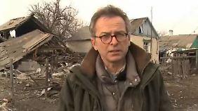 n-tv vor Ort in Debalzewe-Region: Spuren der heftigen Kämpfe werden sichtbar