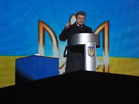 Der ukrainische Präsident Petro Poroschenko bekräftigte seine Anschuldigungen gegenüber Russland.