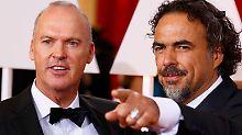 Iñárritu mit seinem Hauptdarsteller Michael Keaton.