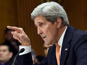 Keine diplomatische Zurückhaltung: John Kerry.