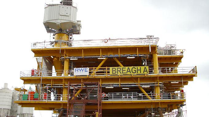 """An der britischen Gasförderplattform """"Breagh A"""" ist RWE Dea mit 70 % beteiligt."""
