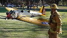 Erste Bilder vom Unglücksort: Das Wrack, in dem Harrison Ford überlebte
