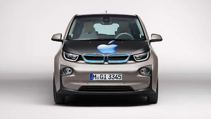 Trägt der Elektroflitzer von BMW bald einen Apfel als Logo?