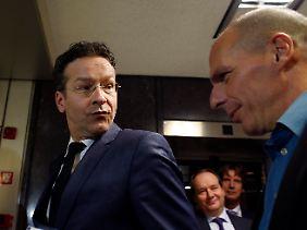 Alles andere als herzlich: Das Verhältnis zwischen Dijsselbloem und Varoufakis könnte besser sein.