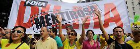 """""""Dilma raus!"""": Brasilianer haben Skandale satt"""