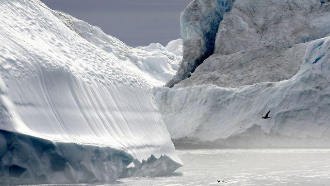Die starke Abschwächung des Golfstroms kann auch mit der Eisschmelze auf Grönland zu tun haben.