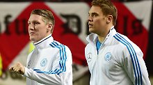 Wieder dabei: Bastian Schweinsteiger und Manuel Neuer.