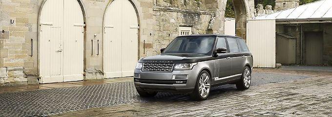 Die SVAutobiography-Edition des Range Rover kann sowohl mit dem langen als auch mit kurzem Radstand geordert werden.