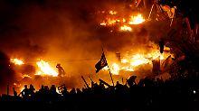 Der Maidan in Kiew im Februar 2014 kurz vor der Flucht von Präsident Janukowitsch