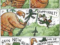Die Szenen mit dem cholerischen Förster gehören zu den witzigsten des Buches.