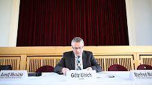 Ulrich (CDU) am 31. Mai im Veranstaltungszentrum in Alttröglitz.