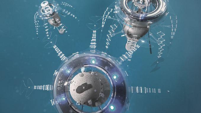 """Das deutsche Hightech-Unternehmen Festo hat die  Roboter-Qualle """"AquaJelly"""" entwickelt."""