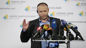 Einzelkämpfer im Parlament, aber ein gefragter Mann: Dmytro Jarosch.
