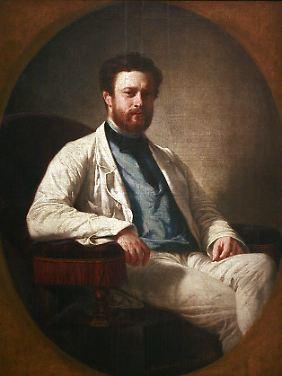 Edmond About (1828-1885), Porträt gemalt von Félix-Henri Giacomotti.