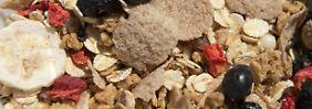 Laut Verpackung kann dieses Früchtemüsli Spuren von Sesam enthalten. Für Allergiker ein wichtiger Hinweis. Doch können sie damit etwas anfangen?