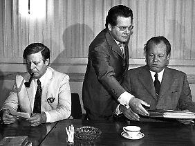 Mai 1974: Willy Brandt tritt wegen der Guillaume-Affäre zurück. Schmidt wird sein Nachfolger.
