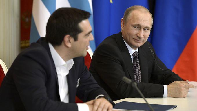 Alexis Tsipras zu Besuch im Kreml: Die Geldnot der Griechen ebnet Putins Pipelineplänen den Weg.