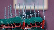 Soldaten auf dem Platz des Himmlischen Friedens in Peking.