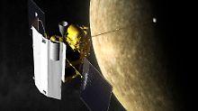 """Der Krater, den """"Messenger"""" auf dem Merkur hinterlässt, wird 16 Meter groß sein."""