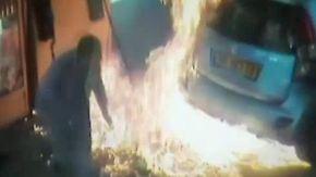 Wegen einer Zigarette: Wütende Frau zündet tankendem Mann Zapfhahn an