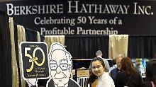 Starinvestor Buffett empfängt seine Gäste - die er dieses Jahr noch reicher gemacht hat.
