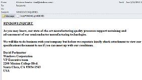 E-Mails wie dieser sollte man grundsätzlich misstrauen.