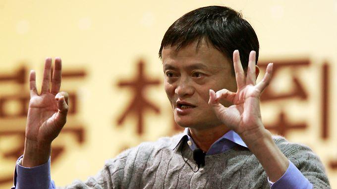 Alibaba-Gründer Jack Ma ist mit seinem Unternehmen seit Langem die Nummer Eins in China - und wächst immer weiter.
