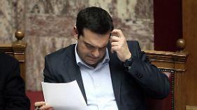 Ohne Sparen keine EU-Hilfe: Hardliner wehren sich gegen Tsipras' Einschnitte