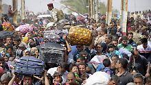 Flucht im eigenen Land: Tausende lassen in Ramadi alles hinter sich, um der IS-Herrschaft zu entgehen (Archivbild).