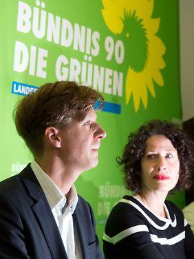 Die Berliner Grünen-Spitze: Daniel Wesener und Bettina Jarasch.