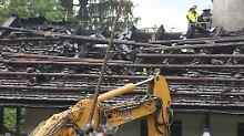 Brand in bayerischem Gästehaus: Helfer bergen fünf Leichen