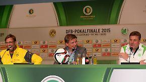 Vor dem DFB-Pokalfinale: Klopp und Hecking stellen sich den Fragen der Presse